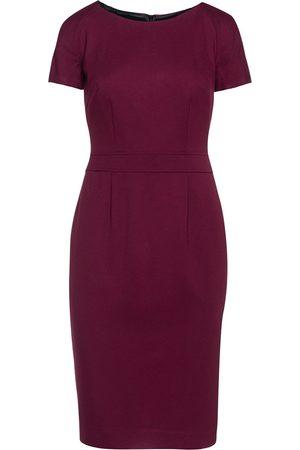Women Bodycon Dresses - Women's Artisanal Burgundy Fitted Cap Sleeve Dress Fashion XL Conquista