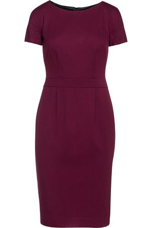 Women's Artisanal Burgundy Fitted Cap Sleeve Dress Fashion Small Conquista