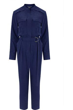 Women's Organic Blue Emory Lyocell Jumpsuit XXS Baukjen