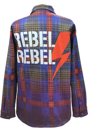 Women Denim Jackets - Women's Artisanal Blue Cotton Shirt Jacket Denim Rebel Rebel Medium maxjenny
