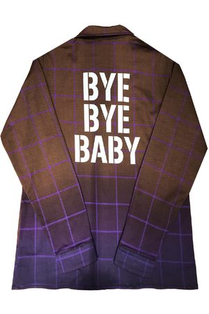 Women's Artisanal Brown Cotton Shirt Jacket Denim Bye Bye Baby Medium maxjenny