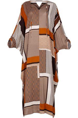Women Maxi Dresses - Women's Artisanal Natural Fabric Lightweight Viscose Maxi Kaftan Dress Alya XL/XXL AZOiiA