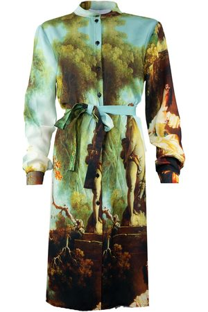 Women's Artisanal Shirt Dress Garden Royale Medium maxjenny
