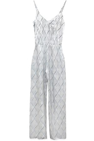 Women Jumpsuits - Women's Recycled Silver Silk Avery Jumpsuit XXS AS by DF