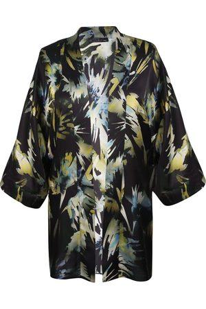 Women's Artisanal Silk Finest Hour Print Kimono M/L Me & Thee