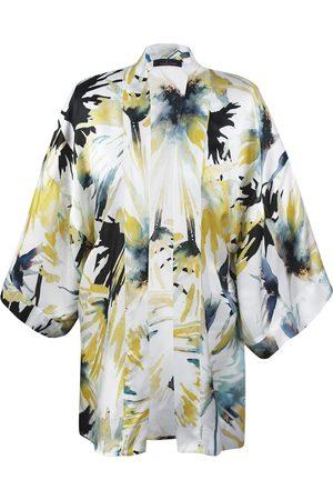 Women's Artisanal Silk First Love Print Kimono M/L Me & Thee