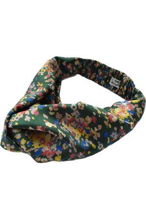 Women Headbands - Women's Artisanal Green Silk Twisted Turban Headband & Neck Scarf Medium Tot Knots of Brighton
