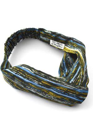 Women's Artisanal Green Silk Twisted Turban Headband & Neck Scarf Small Tot Knots of Brighton