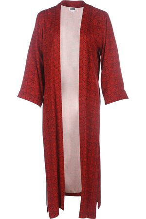 Women's Natural Fibres Red Fabric Batian Lenzing™ Ecovero™ Printed Long Kimono M/L IN OUR NAME