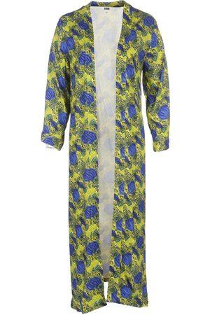 Women's Natural Fibres Yellow Fabric Batian Lenzing™ Ecovero™ Print Long Kimono M/L IN OUR NAME