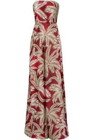 Women Corsets - Women's Artisanal Riri Floral Pallazo Pant Corset Jumpsuit Large Nomi Fame