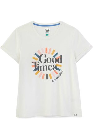 Women's Artisanal White Cotton Good Times Organic T-Shirt XXS Anorak