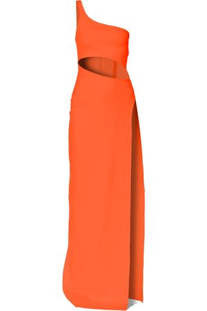 Women Bodycon Dresses - Women's Yellow/Orange Gina Nasturtium Dress Large Aggi