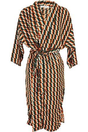 Women's Artisanal Fabric Archie Koi Kimono S/M Jennafer Grace
