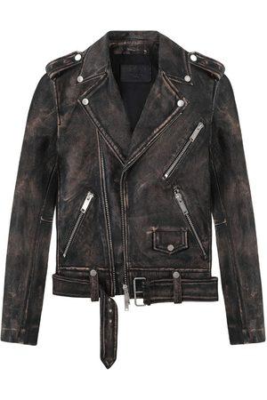 Women Leather Jackets - Women's Black Cotton The Deuce Biker Jacket - Heavy Relic XL Other