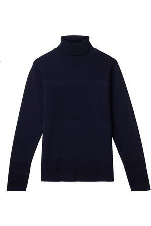 Men's Organic Navy Wool Wex Sailor Turtleneck XL Le Pirol