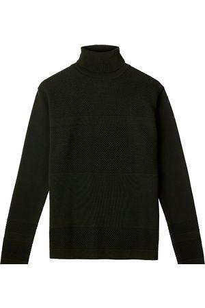 Men's Organic Green Wool Wex Sailor Turtleneck - Dark Large Le Pirol