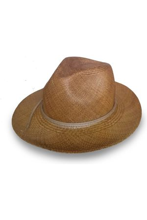 Men's Artisanal Brown Panama Hat: The Panama Alto Medium Mister Miller - Master Hatter