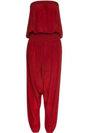 Women Jumpsuits - Women's Red Silk Sleeveless Jumpsuit ADA KAMARA