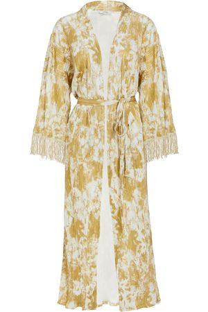 Women Bathrobes - Women's Artisanal Gold Fabric Maxime Godess vanDalsky