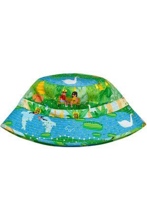 Men Hats - Men's Natural Fibres Cotton I Like You A Lot Illustrated Print Bucket Hat Small Daisy King