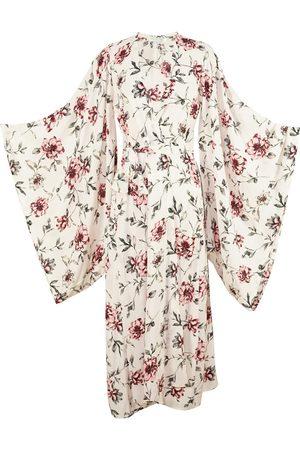 Women's Artisanal Ivory Astrid Kimono XL Jennafer Grace