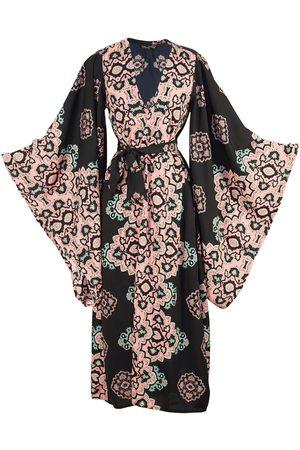 Women's Artisanal Black Moroccan Dancer Kimono XL Jennafer Grace