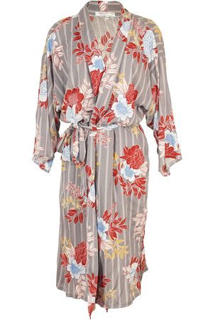 Women's Artisanal Blue Linen Kimko Koi Kimono L/XL Jennafer Grace