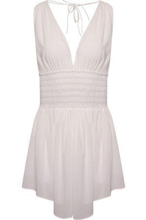 Women Party Dresses - Women's Artisanal White Nancy Mini Dress Large Josephine and me