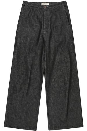 Men Formal Pants - Recycled Blue Cotton Mens Palm Denim Pants Small madre natura