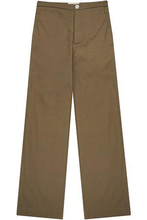Men Formal Pants - Recycled Natural Cotton Mens Palm Blend Cord Dark Tan Pants Small madre natura