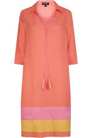 Women's Artisanal Orange Linen Morroco Tunic Dress - Citrus Small NoLoGo-chic