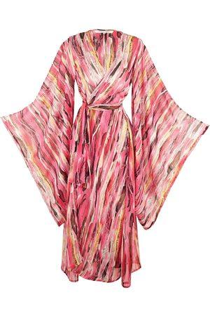 Women's Artisanal Pink/Purple Psilo Kimono Medium Jennafer Grace