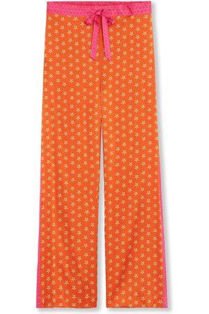 Women's Orange Silk Pyjama Bottoms - Lucy's Stars Medium Jessica Russell Flint