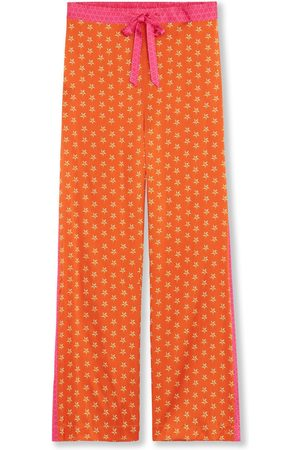 Women's Orange Silk Pyjama Bottoms - Lucy's Stars Small Jessica Russell Flint