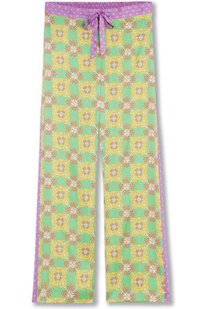 Women's Silk Pyjama Bottoms - Audrinka Large Jessica Russell Flint
