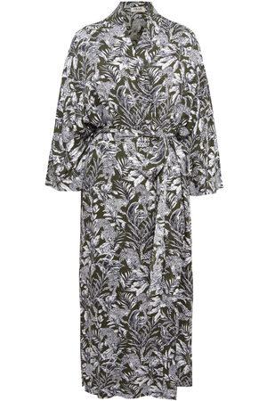 Women's Artisanal Green Cotton Sumatra Kimono Chillax