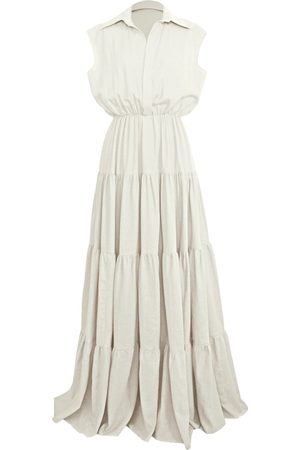 Women's Artisanal White Linen Copacabana Dress XXS Rayane Bacha