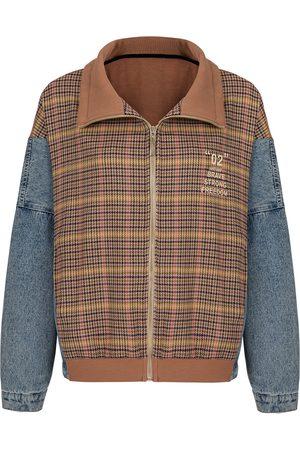 Women Denim Jackets - Women's Artisanal Cotton Plaid Denim Jacket Medium NOCTURNE