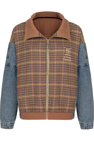 Women's Artisanal Cotton Plaid Denim Jacket Small NOCTURNE