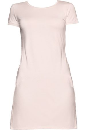 Women Party Dresses - Women's Organic Pink Modal Heather Dress- Medium Coco & Kandy