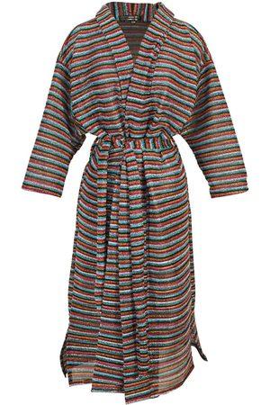 Women's Artisanal Brown Biba Koi Kimono L/XL Jennafer Grace