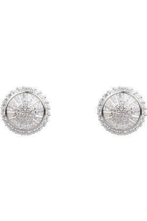 Women Earrings - Women's Artisanal Silver Luxury Pavé Set Ear Studs AVILIO London