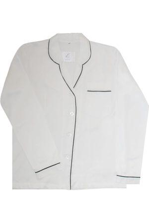 Artisanal White Silk Women's Pyjama Shirt Bamboo Large Billy Sleeps
