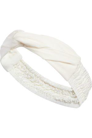 Women Headbands - Women's White Knotted Headband SoL