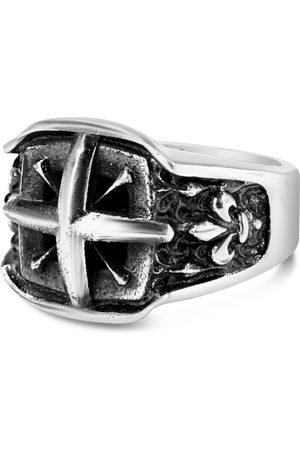Hurtig Lane Mykonos Vegan Leather Men's Watch Silver, &