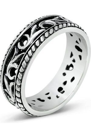 Men's Artisanal Sterling Silver Il Dito - Oxidised Ring Girati
