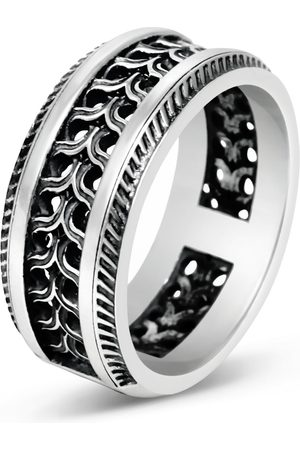 Men's Artisanal Sterling Silver Striscia - Oxidised Ring Girati