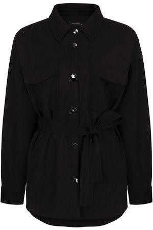 Women Leather Jackets - Women's Artisanal Black Faux Suede Jacket- Large NOCTURNE