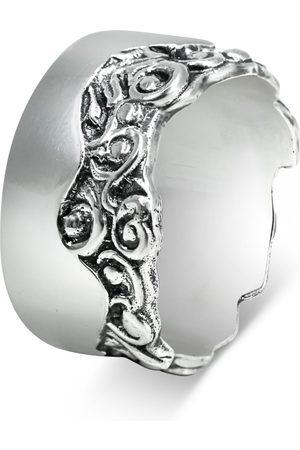 Men's Artisanal Sterling Silver Livello - Oxidised Ring Girati